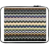 Snoogg Super Coloured Wave Pattern 2511 13 To 13.6 Inch Laptop Netbook Notebook Slipcase Sleeve