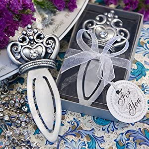 Royal Favor Collection Majestic Crown Design Bookmark Favors