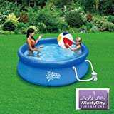 8 x 30 Summer Escapes Quick Set Swimming Easy Pool with RP600 Filter Pump