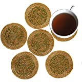 Hand Crafts ® Set Of 6 Handmade Multicolor Beaded Tea Coasters - Placemats For Tea Cups 4 Inches - Set Of Drink...