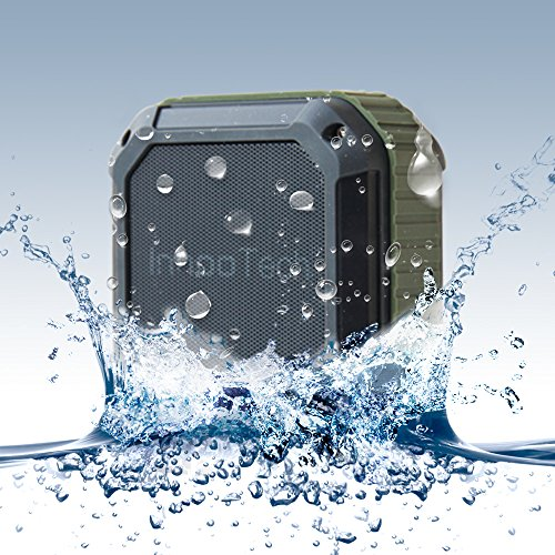 Innoo Tech Bluetooth Speakers Waterproof[Best Outdoor Shower Bluetooth Speaker Ever]Portable Bluetooth Wireless Speaker with Tf Card Reading Function for Outdoors/Shower