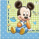 Bigiemme - Tovagliolo 33X33 Cm *Baby Mickey