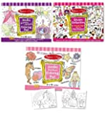 Melissa & Doug  Girls Sticker Pad / Coloring Books Bundle