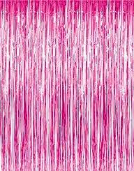 3′ x 8′ (36″ x 96″) Pink Tinsel Foil…