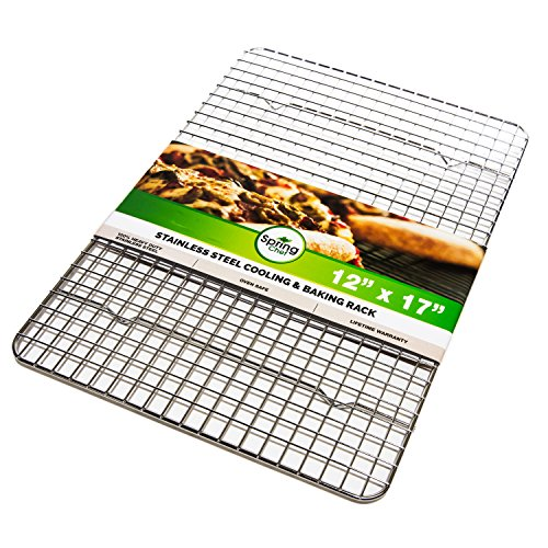 Oven Safe, Heavy Duty Stainless Steel Baking Rack & Cooling Rack, 12 x 17 inches Fits Half Sheet Pan (17x12 Roasting Pan compare prices)