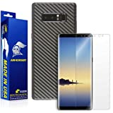 ArmorSuit MilitaryShield - Galaxy Note 8 Screen Protector + Black Carbon Fiber Skin Wrap Protector - Lifetime replacement