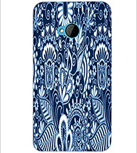 PrintDhaba Pattern D-3422 Back Case Cover for HTC ONE M7 (Multi-Coloured)