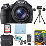 Sony DSC-HX400V/B DSCHX400VB DSCHX400V HX400 20 MP Digital Camera Bundle with 64GB High Speed Card, Spare Battery, Rapid AC/DC External Charger, Padded Case, DVD Photography Tutorial, SD Card Reader, Table top Tripod, and MORE (Color: 64GB Bundle + Spare Battery, Tamaño: WiFi Camera- modelIP777)
