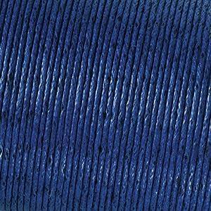 Ciré de coton cordon en bleu pour perles, 2 mm / 6m.