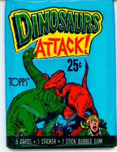 1988 Topps Dinosaurs Attack ! Collector Cards and Sticker Pack