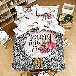 Auvoau Paisley Bedding for Adult Boho Wild and Free Duvet Cover Set 100% Cotton Queen Set 4 Pieces (Queen, 1)