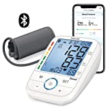 Beurer Bluetooth Upper Arm Blood Pressure Monitor, Blood Pressure Monitor Cuff with App, Illuminated Display, Multi-Users, BM67 (Color: White)
