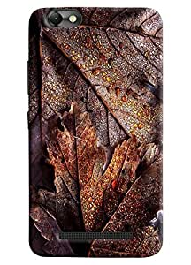 Omnam Soak Leaves With Water Drop Pattern Printed Designer Back Cover Case For Lenovo Vibe C (A2020)