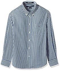 Gant Boys' Shirt (GBSFF0017_Dark Blue_XL)