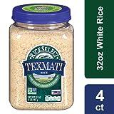 RiceSelect Texmati White Rice, Long Grain American Basmati, 32 oz Jars (Pack of 4)