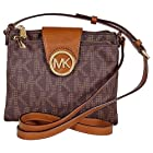 Michael Kors Fulton Brown Large Crossbody Bag 32F3GFTC3B (Brown)