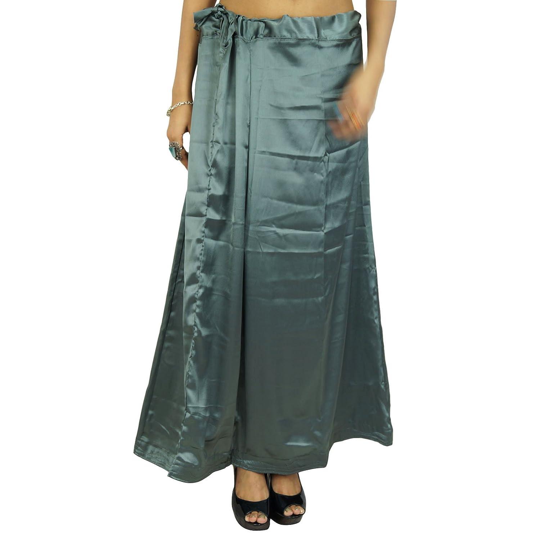 Indian Silk Satin Petticoat Bollywood Solide Inskirt Futter für Sari Frauen Kleidung günstig online kaufen