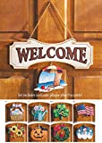 Collections Etc Seasonal Welcome Sign, 10pc