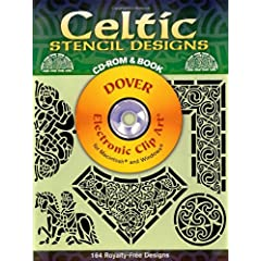 Celtic Stencil Designs CD-ROM and Book (Dover Electronic Clip Art) Leighton John