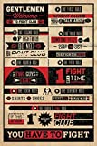 (24x36) Fight Club Rules Movie Poster