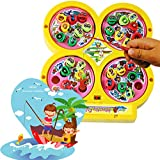 BonZeal High Quality Electric Rotating Magnetic Fishing Kid Children Educational Toy Game (Yellow)