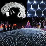 White 200 LED Net Mesh Decorative Fairy Lights Twinkle Lighting Christmas Wedding Party US 110-240V