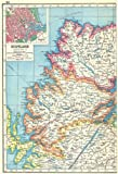 SCOTTISH HIGHLANDS:Sutherland Ross & Cromarty Inverness-shire.Aberdeen 1920 map