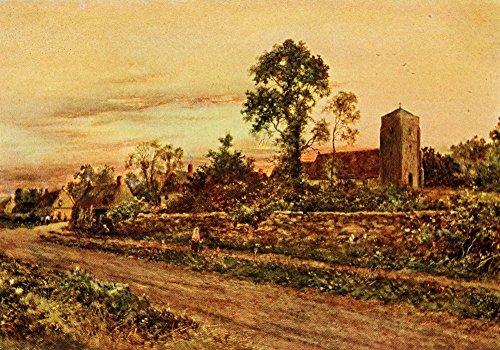 daniel-sherrin-in-unfamiliar-england-1910-sulgrave-church-village-kunstdruck-4572-x-6096-cm