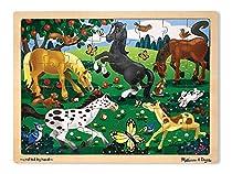 Melissa & Doug Frolicking Horses Wooden Jigsaw Puzzle With Storage Tray (48 pcs)  Melissa & Doug