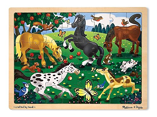 Melissa & Doug Frolicking Horses Jigsaw Puzzle 48pc