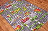 Children's Play Village Mat Town City Roads Rug 100cm x 165cm (3ft 3