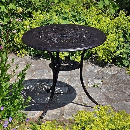 Anna 80cm Rundes Gartenmöbelset Aluminium - 1 ANNA Tisch + 4 ROSE Stuhle
