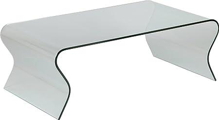 Tavolino design vetro curvo vaghi