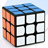 Lanlan Mini 3x3 Speedcube Brain Teaser Twist Puzzle Toy Magic Cube for for Beginner to Experienced Cubers (Color: Black)