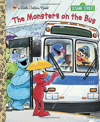 The Monsters on the Bus (Little Golden Book Sesame Stre)