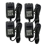 TMEZON 4 Pack DC 12V 12 Volt 2A Power Supply Adapter, AC 100-240V to DC 12V Transformers, Switching Power Supply for 12V LED Strip Lights, 24W Max, 2.1mm X 5.5mm US Wall Plug Extra Long 8 Foot Cord (Tamaño: 8ft Cord 2Amp + Female Adapter)