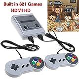 Nintendo Classic Mini Console: Super Nintendo Entertainment System2018 TV VIDEO GAMES CONSOLE, SMART HDMI CLASSIC BUILT IN 621 GAMES 2 CONTROLLER