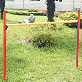New Portable Dog Agility Training Equipment Adjustable Jumping Bar W/carrying Case