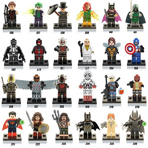 24 piece Super Hero Minifigures huge lot Building Blocks Toys For Children