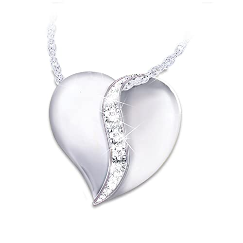 My Dear Granddaughter Diamond Heart Pendant Necklace by The Bradford Exchange