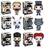 Funko POP! Alice Through The Looking Glass: Alice Kingsleigh + Mad Hatter + McTwisp + Time + Iracebeth + Chessur - Vinyl Figure Set NEW