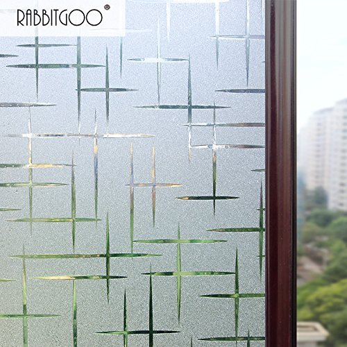 rabbitgoo-3d-cross-pattern-frosted-no-glue-static-cling-privacy-glass-window-films-295ft-by-65ft-354