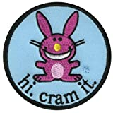 Happy Bunny - Unisex-adult Happy Bunny - Cram It Patch Light Blue