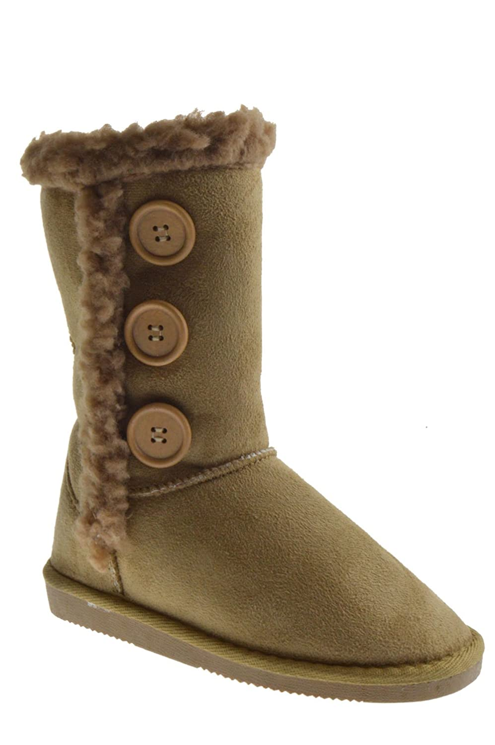 R Boot 013KM Little Girls Button Shearling Boots Camel boots women platform shoes for woman 2018 spring autumn ankle boots shoe laces pigskin suede female boot fashion martin shoe