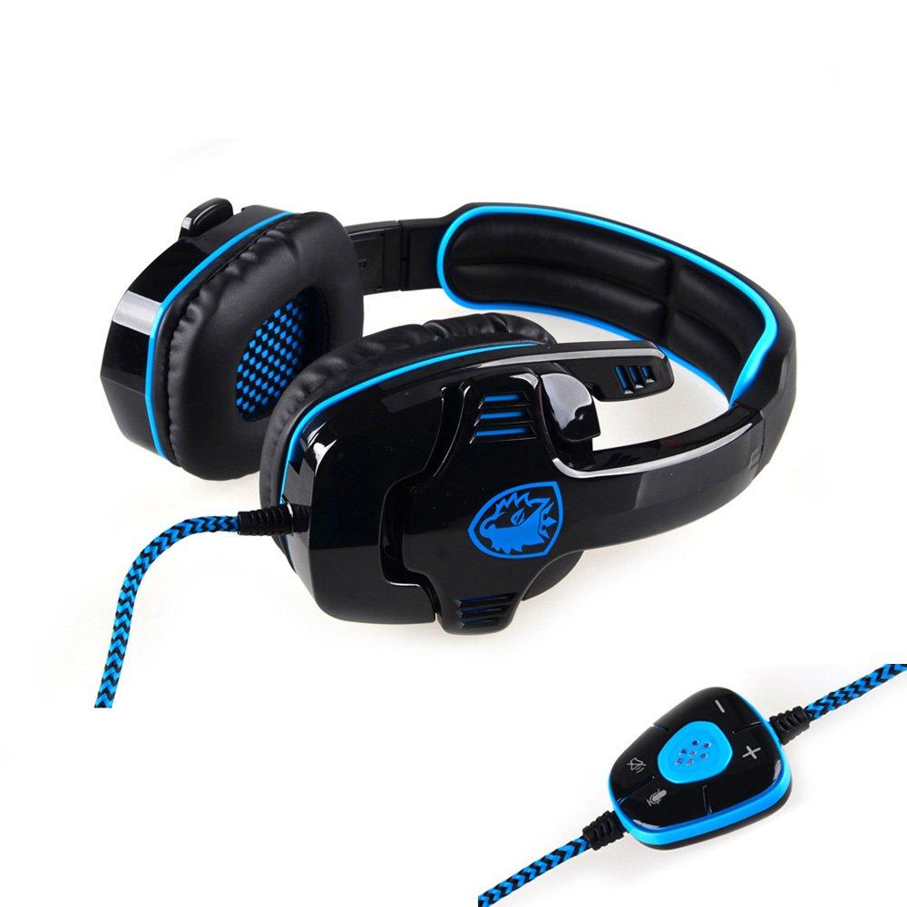 Andoer SADES SA-901 7.1 Auriculares del juego Auricular profesional sonido envolvente Surround Sound USB auricular con micrófono remoto para los gamers para PC Portátil  Electrónica Comentarios de clientes y más información