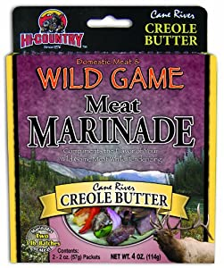 Hi-Country Snack Foods Domestic Meat and WILD GAME 4 oz. Creole Butter Meat Marinade (2/2 oz. packs)