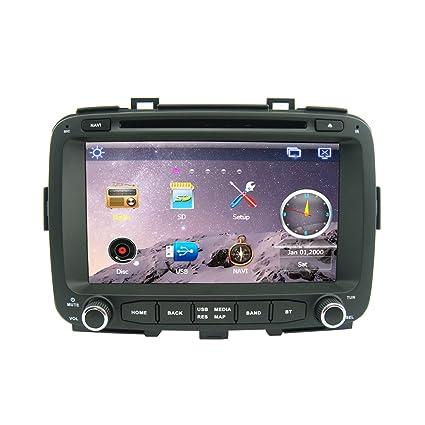 Rungrace 8-Pouce 2 Din TFT Ecran Lecteur DVD de Tableau de Bord en Automobile avec Bluetooth,GPS Navigation-Pret,GPS,RDS,DVB-T pour Kia Carens