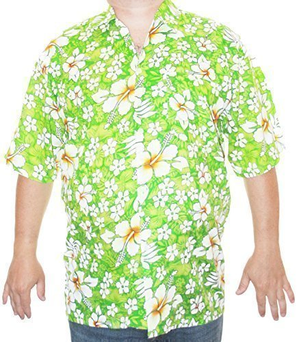 Happy Hawaiian Hut - Herren Hemd Hawaii Aloha S/M/L - S, Hellgrün