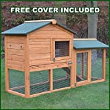 FeelGoodUK Rabbit Hutch and Cover, 53 x 85 x 61 cm