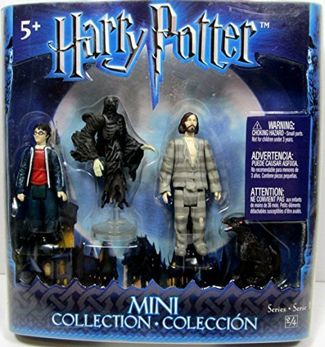 Harry Potter Mini Collection Figures (Harry, Dementor, Sirius Black, Sirius Dog) by Mattel